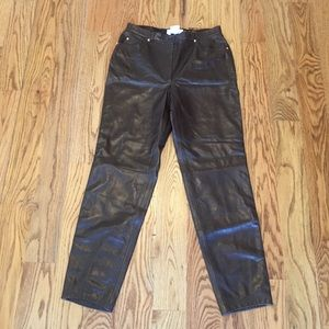 Escada Brown Leather Pants